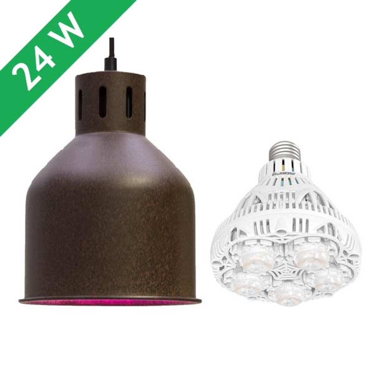 Saga armatur 'rust' med LED-pære 24 W
